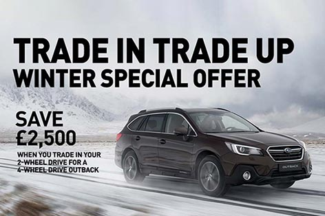 Subaru Outback<br>Save £2,500 when you trade in your old car