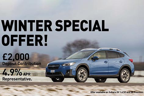 Subaru XV - £2,000 deposit<br>contribution and 4.9% APR on PCP